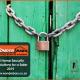 Padlock and Chain on Door