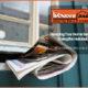 newspaper in a front door's mail slot